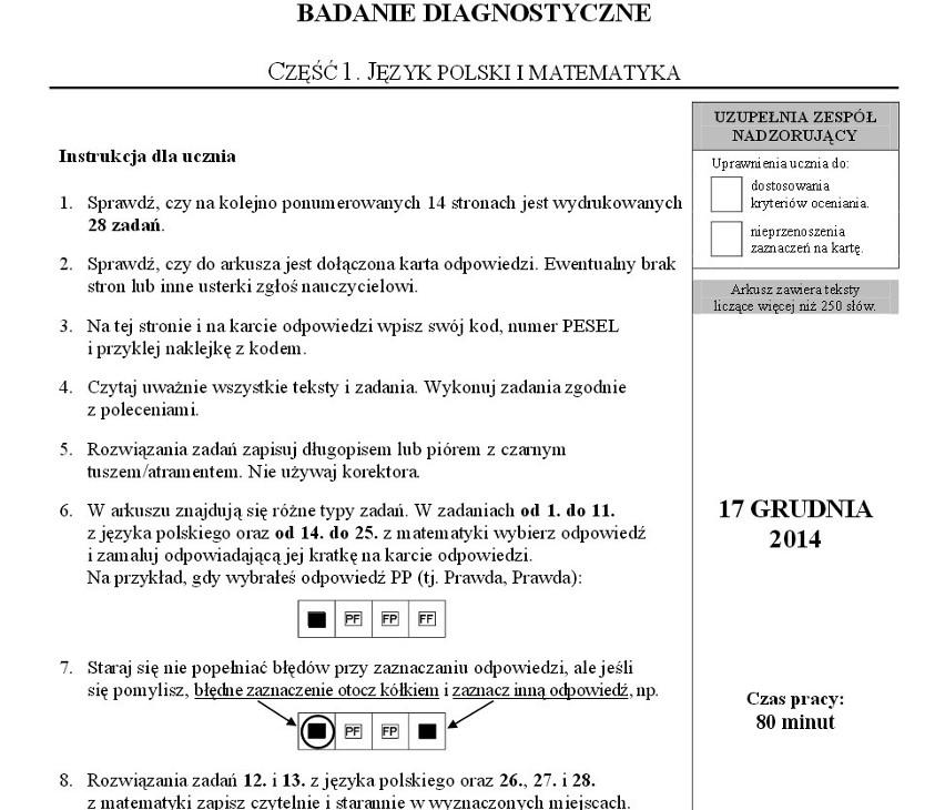 sprawdzian szóstoklasisty 2012 pdf