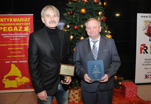Trener Sparty Kazimierza Wielka Marek Kowalski (z lewej) i dyrektor Kazimierskiego Ośrodka Sportowego Stefan Marzec święta Bożego Narodzenia spędzą w rodzinnym gronie.