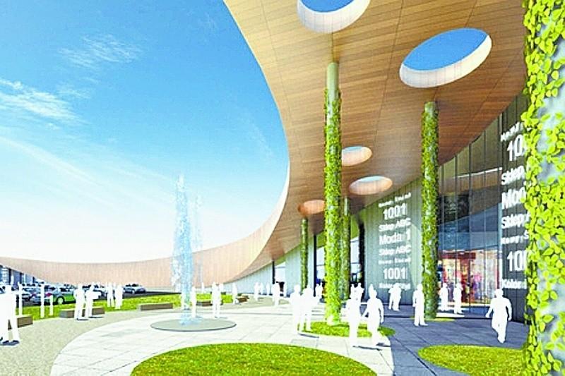 Tak ma wyglądać centrum handlowe przy ełckiej obwodnicy. Autorem koncepcji obiektu jest znana międzynarodowa pracownia architektoniczna Broadway Malyan.