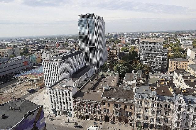 Panorama Łodzi. Zdjęcia wykonane z jednego z najwyższych budynków w Łodzi - biurowca Red Tower.