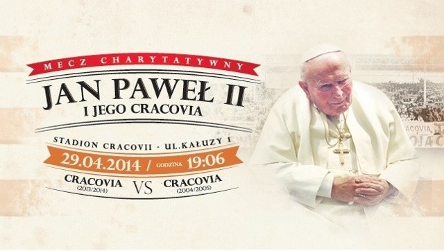 Cracovia zagra charytatywnie ku czci świętego Jana Pawła II