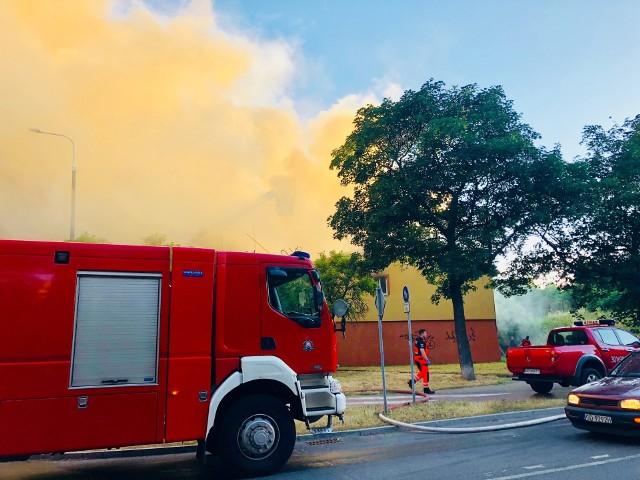 Pożar, Siedlce.  Gdańsk 23.06.2018