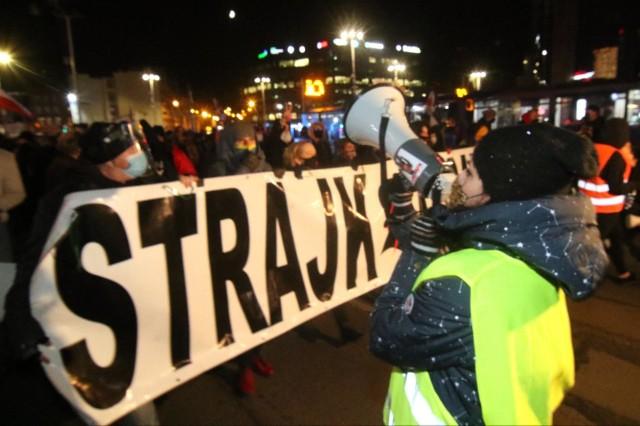 Strajk Kobiet we Wrocławiu.
