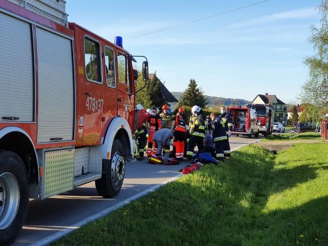 Do wypadku doszło na drodze powiatowej w Lipniku (gm. Wiśniowa)