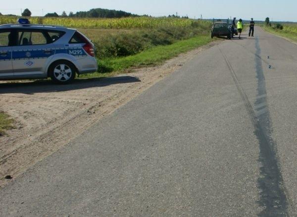 Łomżyńscy policjanci ustalają, jak i dlaczego doszło do tego...