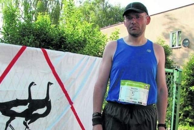 Piotr Selwesiuk po godzinach biega