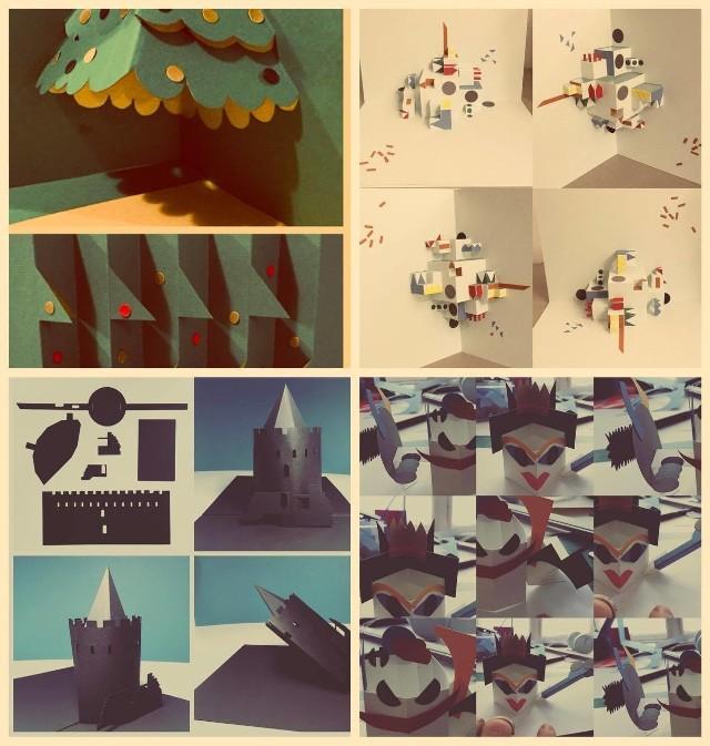 """Warsztaty techniką POP-UPStowarzyszenie Twórców i Producentów Sztuki zaprasza na """"Warsztay z wyobraźni techniką POP-UP"""" dla Dorosłych i Dzieci. Czym jest technika pop-up? To zaginanie i cięcie papieru, tworzące trójwymiarowe, przestrzenne elementy, które można złożyć między dwiema kartkami papieru na płasko. Ćwiczy wyobraźnię przestrzenną i oraz kreatywność tak potrzebne w rozwoju inteligencji wizualno-przestrzennej człowieka. Uczy patrzenia szerzej na papier, który daje nieograniczony wachlarz użycia. Daje poczuć siłę i moc płynące z projektowania połączonego z geometrią. Warsztaty, 15 grudnia, Obiekt Kreatywny Królowej  Jadwigi 2, godz. 13-18, wstęp wolny."""