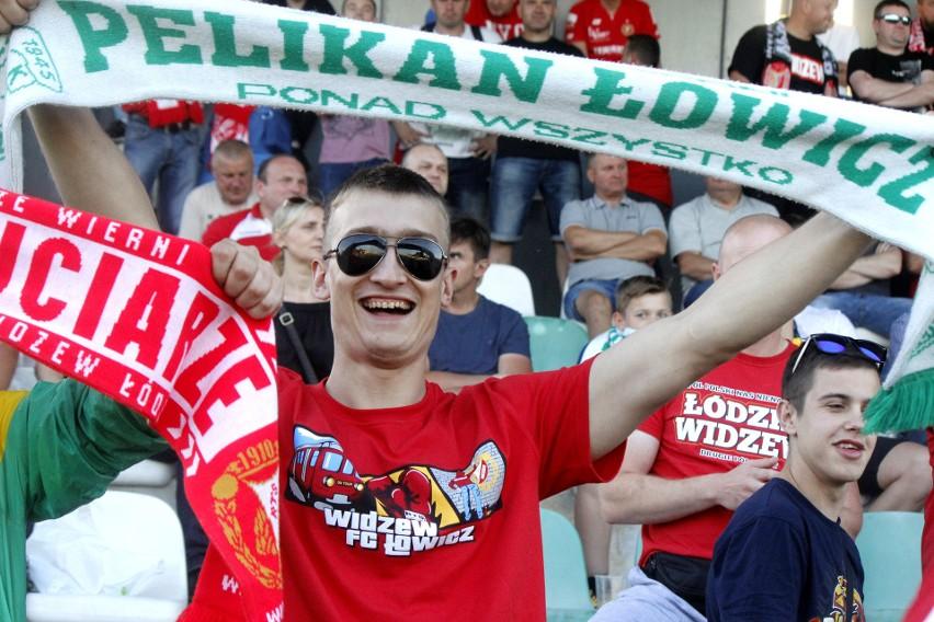 Kibice na meczu Pelikan Łowicz - RTS Widzew Łódź