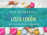 GIF ostrzega. Te leki zostały wycofane z obrotu. UWAGA! Mogą być niebezpieczne dla zdrowia 11.01.2021 AKTUALNE OSTRZEŻENIA GIF