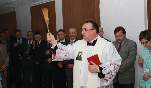 Pracownię poświęcił ks. Marian Szymański.