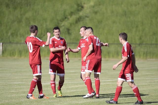 Radość piłkarzy z Głubczyc była w sobotę podwójna.