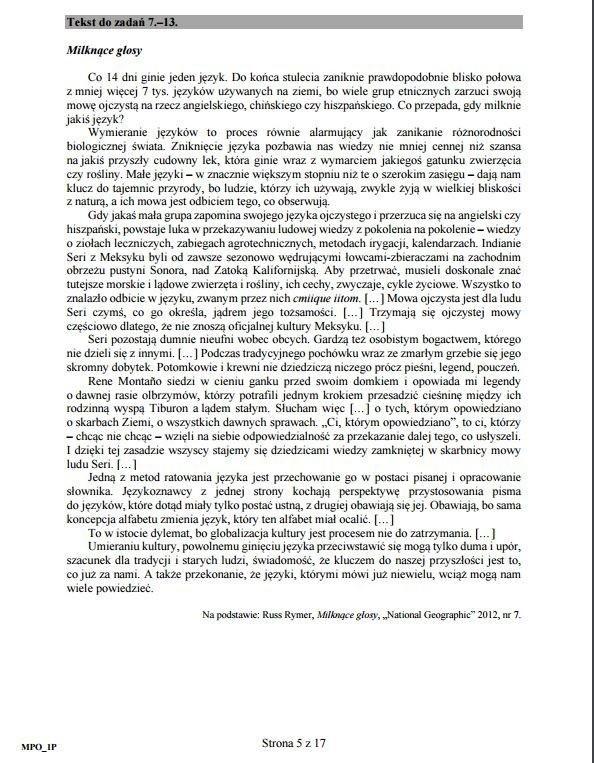 Polski Rozszerzony Matura 2017 Arkusze Cke Matura