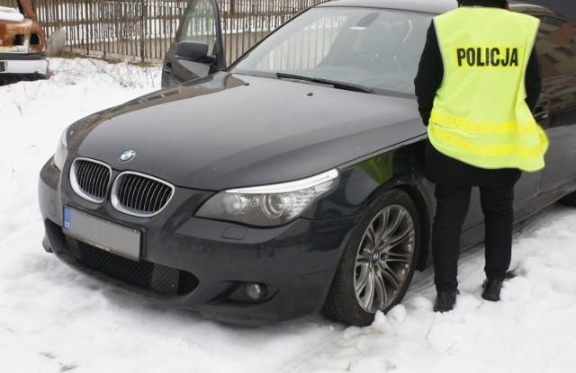 Policja zatrzymała Litwina w kradzionym bmw na ul. Utrata w Suwałkach