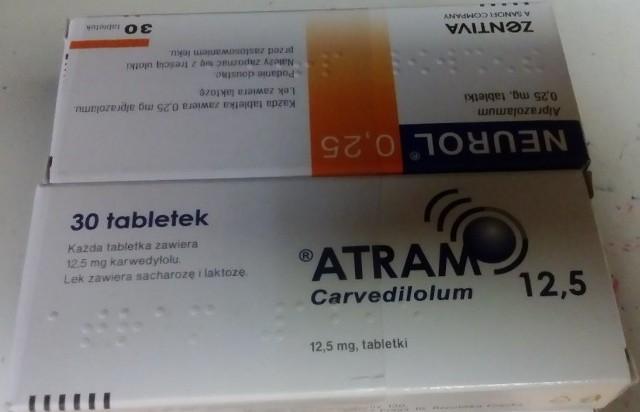 W opakowaniach leku Atram może znajdować się lek psychotropowy Neurol.