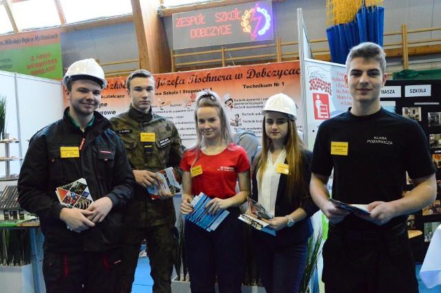 Podczas ubiegłorocznych Targów Edukacyjnych Powiatu Myślenickiego