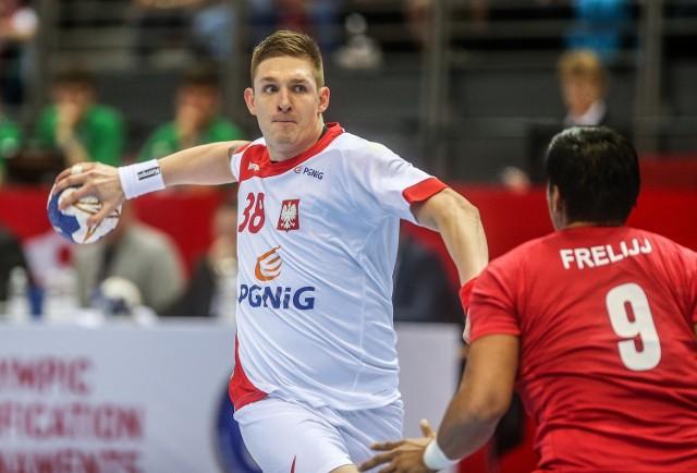 Łukasz Gierak ma już na koncie dwa mecze i cztery zdobyte bramki w kadrze.