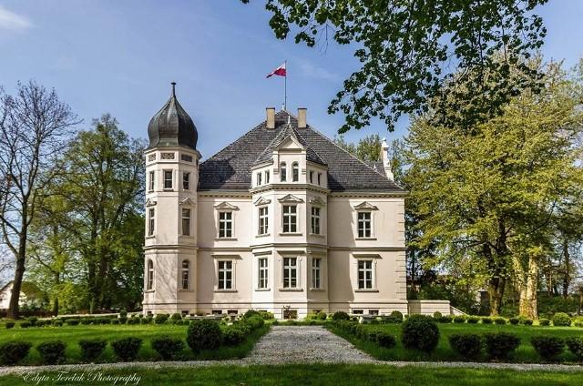 Ziemiełowice gmina Namysłów. XIX wieczny pałac z budynkiem pomocniczym w parku. Stan bardzo dobry. Cena 3,2 mln zł.