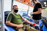 Żołnierze z Podkarpacia podarowali krew dla potrzebujących [ZDJĘCIA]
