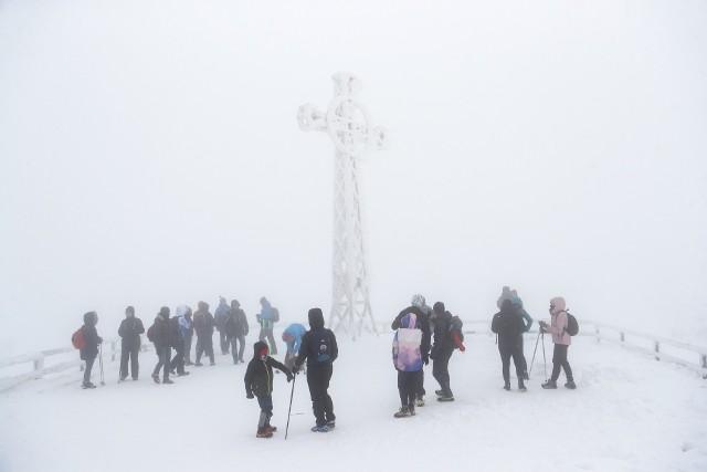 W Bieszczadach prawdziwa zima.