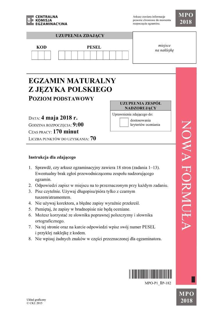 matura 2021 polski odpowiedzi nowa era