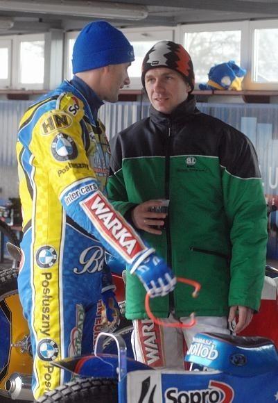 Tomasz Gollob (z lewej) i Rafał Okoniewski są już gotowi do próbnych galopów
