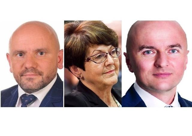 Od lewej Mariusz Gosek, Maria Zuba, Rafał Nowak.