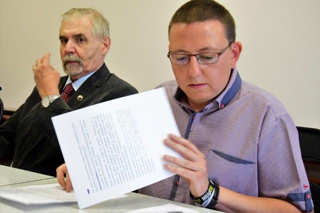 Andrzej Kieraj i Tomasz Mokos z SLD Inowrocław