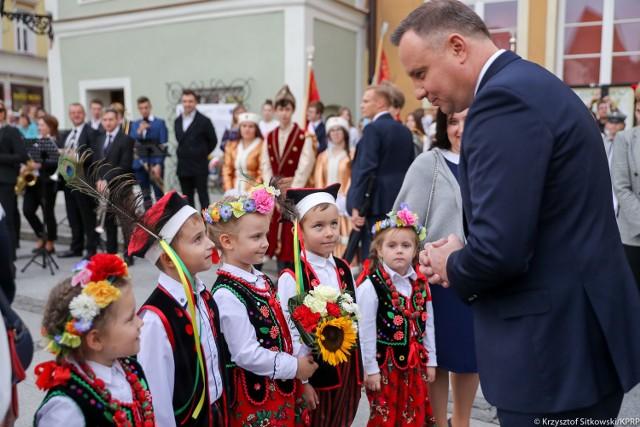 Z wizytą do Środy Śląskiej w czwartek przybył prezydent Andrzej Duda