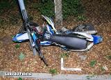 Tragiczny wypadek w Drezdenku. Bus uderzył w motocykl. Nie żyje 16-letni kierowca jednośladu, kierowca busa był pijany