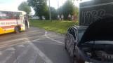 Horodniany. Wypadek przy obwodnicy Księżyna. Autobus zderzył się z autem osobowym (zdjęcia)