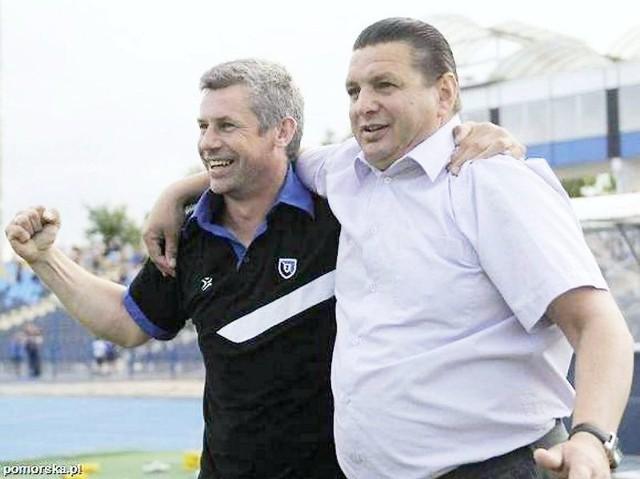 W bydgoskim Zawiszy Piotr Gruszka (z lewej) współpracował z Adamem Topolskim