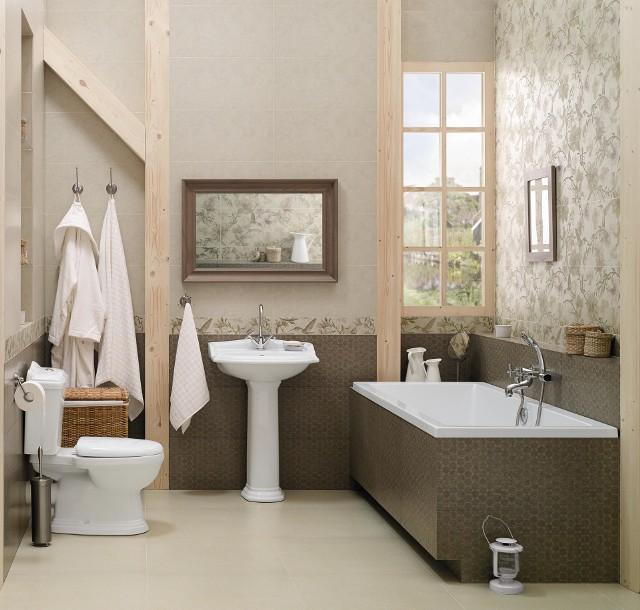 Sielska łazienka prosto z angielskiej prowincjiSielska łazienka prosto z angielskiej prowincji