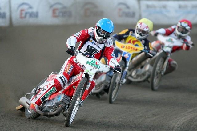 Tomasz Gapiński (na prowadzeniu) zdobył w Szwecji 19 punktów.
