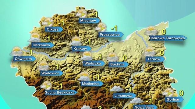 Prognoza pogody dla Małopolski na czwartek
