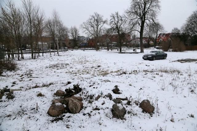 Na co dzień na wielkim trawniku między ul. Poprzeczną a Totalizatorem Sportowym przy ul. Modlińskiej 1 niewiele się dzieje. Kierowcy zostawiają tam auta, a mieszkańcy wyprowadzają psy.
