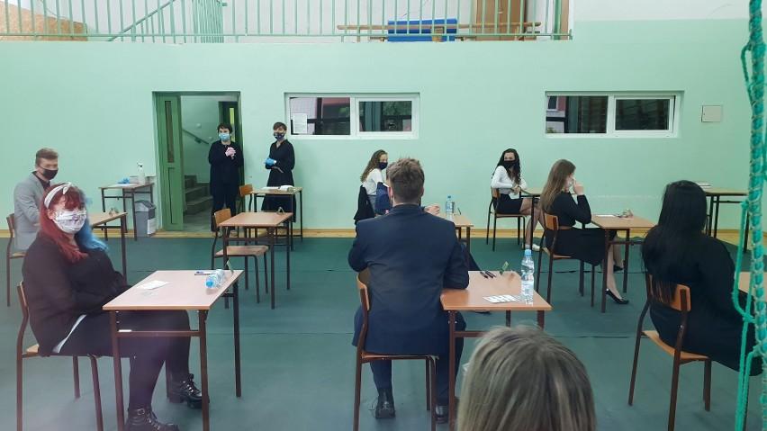 Uczniowie technikum w Strzelcach Opolskich.