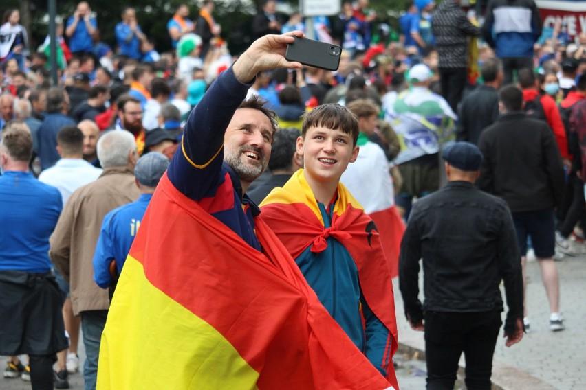 Euro 2020. Włosi i Hiszpanie opanowali Wembley [ZDJĘCIA]