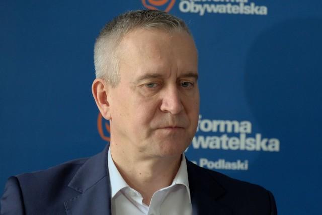 Robert Tyszkiewicz, szef podlaskiej Platformy Obywatelskiej