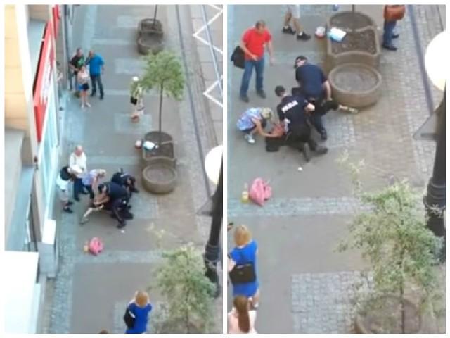 Do zdarzenia doszło w sobotę (4 lipca) około godz. 18 przy ul. Gdańskiej w centrum Bydgoszczy. Tłum zaatakował interweniujących policjantów. Przechodnie nie wiedzieli, że schwytany to recydywista, a jednak go bronili.
