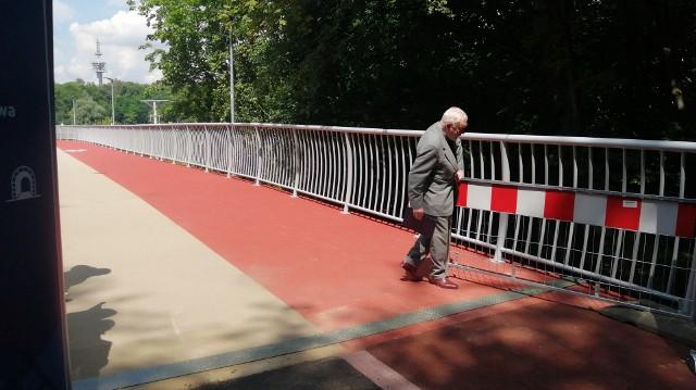 Otwarcie kładki pieszo-rowerowej nad ulicą Powstańców Śląskich