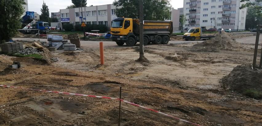 Przebudowa ulicy Traktorowej. Powstaje rondo u zbiegu z Łanową