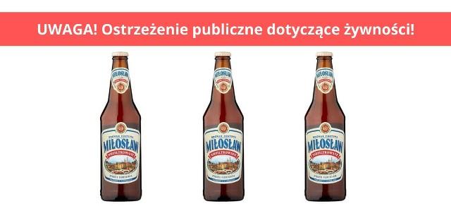 Tak wygląda piwo Miłosław Niefiltrowane.