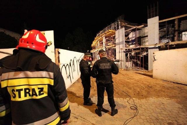 Katastrofa budowlana przy ulicy Legionowej.