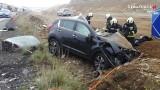 Koszmarny wypadek na S1 w Mierzęcicach. Kobieta zginęła, gdy rozpędzony TIR staranował dwa auta osobowe. Trasa S1 to nadal droga śmierci