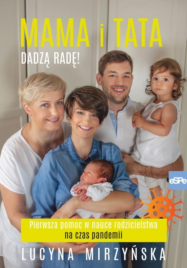 """Okładka e-booka """"Mama i Tata dadzą radę! Pierwsza pomoc w nauce rodzicielstwa na czas pandemii"""""""