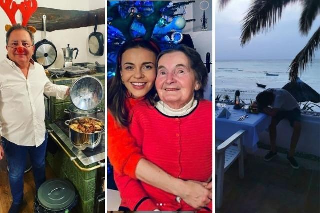 Choć okazji do bywania w te święta było znacznie mniej niż zazwyczaj, celebryci nie zapomnieli o swoich fanach, nawet jeśli na świątecznej fotografii znalazła się tylko sałatka jarzynowa i pasztet. Jak spędzili święta celebryci? Kuba Wojewódzki uciekł w tropiki, Robert Makłowicz przygotował coś smacznego, a Edyta Herbuś postawiła na rodzinne święta u babci. Przesuwaj zdjęcia w prawo - naciśnij strzałkę lub przycisk NASTĘPNE >>>ZOBACZ ZDJĘCIA >>>