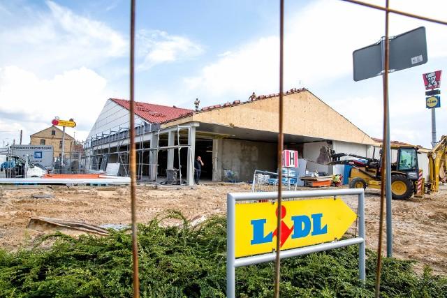 Trwa remont Lidla przy Nowowarszawskiej 6 w Białymstoku.