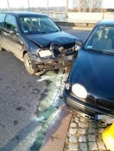 Zderzenie dwóch samochodów na obwodnicy Sławna [zdjęcia]