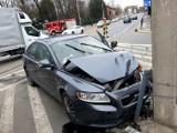 Groźny wypadek dwóch samochodów przy Hali Ludowej