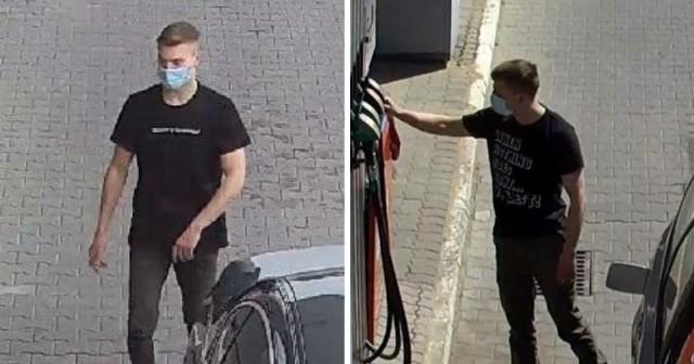 Tego mężczyzny - amatora tankowania za darmo - poszukują policjanci z Chełmży.